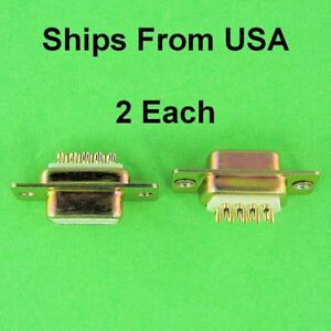 Good Quality DSub DB9 Panel Mount Female Solder Cup Connector D-Sub 9 Pin NEW