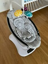 4moms mamaRoo 4 Baby Wippe - Silber Plush inkl. Neugeboreneneinsatz wie neu