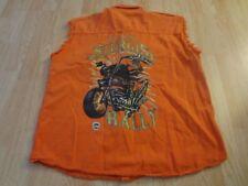 Men's Sturgis XL Orange Cotton Vest