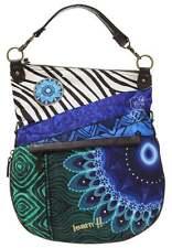 DESIGUAL Bolso Folded Fun Zebra. Bag - Sac - Tasche - Nuevo.