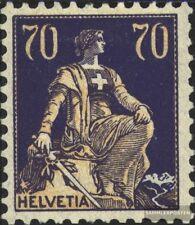 Schweiz 171z, geriffelter Gummi gestempelt 1921 Helvetia