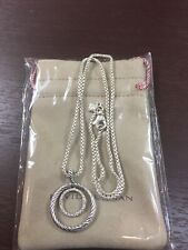 DAVID YURMAN Sterling Silver Pave Diamond Mobile Pendant And Necklace.