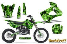 Kawasaki KX85 KX100 2001-2013 Graphics Kit CREATORX Decals BACKDRAFT G