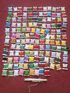 142 Bobbins With DMC Embroidery Cross Stitch Cotton Threads