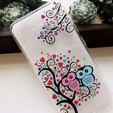 For Samsung Galaxy S8 - TPU Rubber Phone Case Cover Clear Love Heart Tree Owls