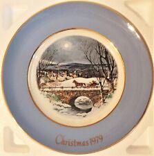 "Avon 1979 ""Dashing Through The Snow"" Christmas Plate"