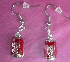 COKE CAN drop earrings goth,FUNKY jewellery COKE CAN earrings  SURGICAL STEEL