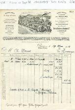 Paris II ème 6 Rue d'Uzès  & Dépt 76 - Belle Entête d'une Manufacture 19/03/1913
