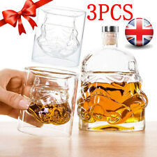 More details for 3pcs star wars stormtrooper glass decanter drinks for whisky sherry liquor gifts