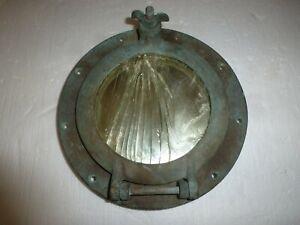 Antique Original brass/bronze Ship Porthole with Glass Maritime Nautical