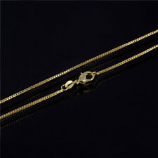 18K Gold Plated 1mm Thin Box Chain Necklace for Pendants ALL SIZES Wholesale 1pc