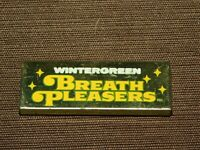 "VINTAGE MEDICINE 2 1/4"" LONG WINTERGREEN BREATH PLEASERS TIN *EMPTY*"