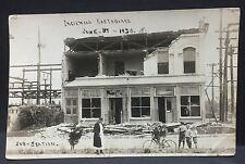 1920 real photo postcard   INGLEWOOD CALIFORNIA EARTHQUAKE   w/ curious watchers