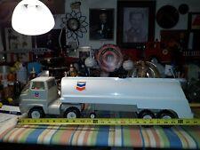 Tonka Chevron Gas Tank Tractor trailer  1970's Pressed steel & Plastic