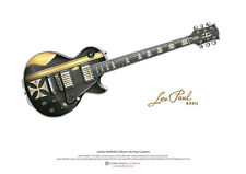 James Hetfield's Gibson Les Paul Iron Cross ART POSTER A3 size