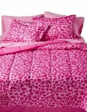 Xhiliration Leopard Pink Comforter 8 pc Set Full