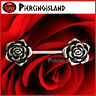 14g Surgical Steel Rose Flower Nipple Ring Bar Barbell Body Piercing Jewelry NEW