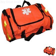 First Aid Medical Kit EMT Supplies Bag Emergency Trauma Orange Paramedic