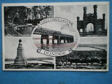 POSTCARD FIFE DUNDEE MULTI VIEW TAY BRIDGE C1954