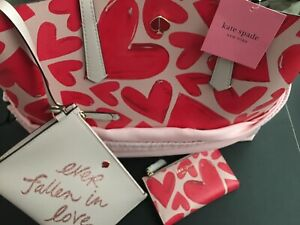 NWT Kate Spade New York EVER FALLEN Hearts Large Tote Bag, Wristlet & Wallet