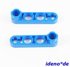 LEGO Technic 2 Stk. Liftarm 1 x 4 flach Achsloch blau 2825 32006 4142061 NEU