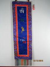 Originale Tibet: Arazzo parete Buddha Thangka vecchio Seta Broccato Ricamo 98cm