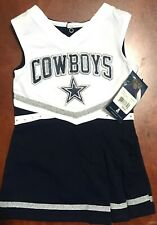 DALLAS COWBOY CHEERLEADERS BLUE & WHT FRINGED 1 PIECE OUTFIT SZ 2T