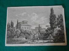 1804 ACQUAFORTE CONSTANT BOURGEOIS VEDUTA DI VILLA NEGRONI A ROMA