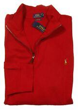 Polo Ralph Lauren Big & Tall Men's Red Estate Rib 1/4 Zip Pullover Sweater
