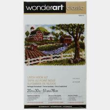 "Wonderart Latch Hook Kit Heritage Homestead 20"" X 30"" New"