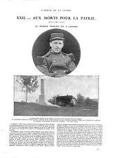 WWI Monument du Caporal André Peugeot Joncherey Delle Belfort A ILLUSTRATION