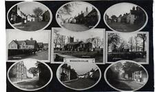 Messingham Multi View Nr Scunthorpe sepia unused RP old postcard W Roelich Good