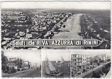RIMINI CITTÀ 149 RIVAZZURRA o RIVA AZZURRA SALUTI Cartolina FOTOGR. viagg. 1961