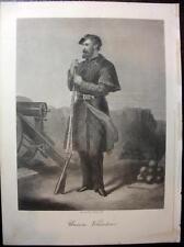 McRae, UNION VOLUNTEER, Civil War 1800s Engraving