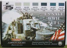 Lifecolor Acrylics LC-CS24 US Navy WW2  Paint set 1