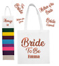 BRIDE TO BE Personalised Bag Wedding Squad Hen Party Team ROSE GOLD Gift Bags 2