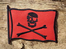 ECUSSON PATCH THERMOCOLLANT aufnaher toppa DRAPEAU PIRATE rouge jolly roger