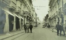 C.1910 RPPC Carrera Venezuela Signs, Cars, Shops Vintage Postcard P102
