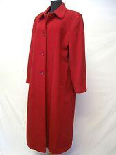 Mackintosh New England Coat Sz. 14 Petite Red Wool Blend Buttons Pockets  #1080