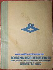 Katalog 1934 J.Breitenstein Emmerich Metallwaren Hausrat Brotkasten Gießkannen..