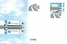 Aland 2017 FDC My Stamp Postal Lorry 1v Set Cover Lorries Trucks Stamps
