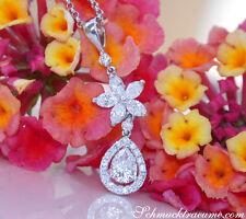 Brillanten Tropfen Anhänger mit Marquise Diamanten, 1.03 ct. TW VS WG-750 5.700€