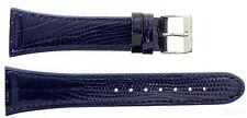 Uhrenarmband für Skagen Denmark Ersatzband 380SSLN8A Leder blau