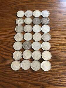 Lot 63 Pieces 5 Francs Semeuse Argent Dont Rares