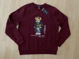 Ralph Lauren Polo Bear Sweatshirt Kids Gr.XL oder Herren S/M Bordeaux Neu