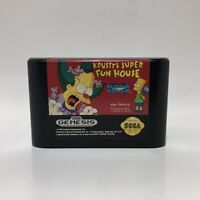 Krusty's Super Fun House - Authentic Sega Genesis Game Cart Only