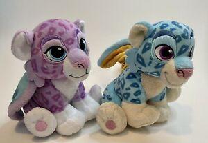 Disney Elena of Avalor Zoom Blue & Mingo Purple Pair Winged Baby Leopard Plush 2