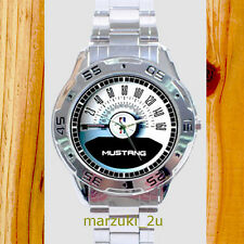 NEW Ford Mustang GT-50 Covertible Speedometer CHROME MEN'S WATCH WRISTWATCHES