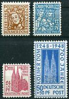 Alliierte Besetzung Bizone Nr. 69 - 72 sauber postfrisch Kölner Dom 1948 MNH