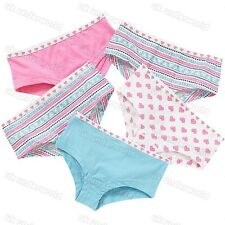 5 Pairs Girls Hipster Boxer Shorts Cotton Briefs Pants Knickers Childrens 7-13